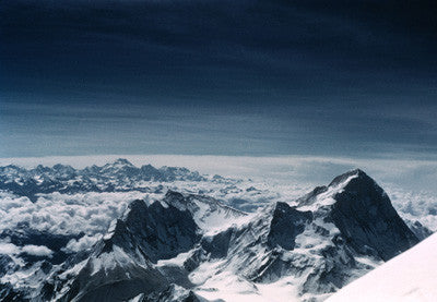 View from the South Summit showing Makalu and Kanchenjunga