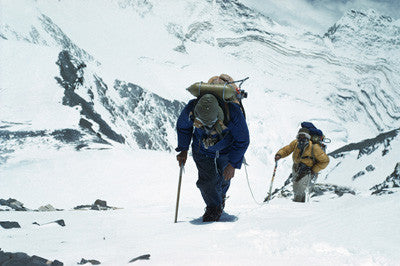 Hillary and Tenzing approach the south east ridge at 27,300 feet