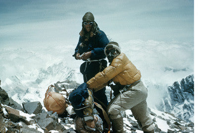 Hillary and Tenzing on the south east ridge at 27,300 feet