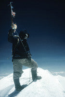 Tenzing Norgay on the summit of Mount Everest