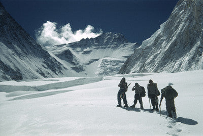 Edmund Hillary leads a group into the Western Cwm