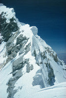Footmarks of Tenzing & Hillary coming down the summit ridge of Everest