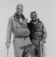 Hillary & Tenzing Norgay at Camp IV after their ascent of Everest