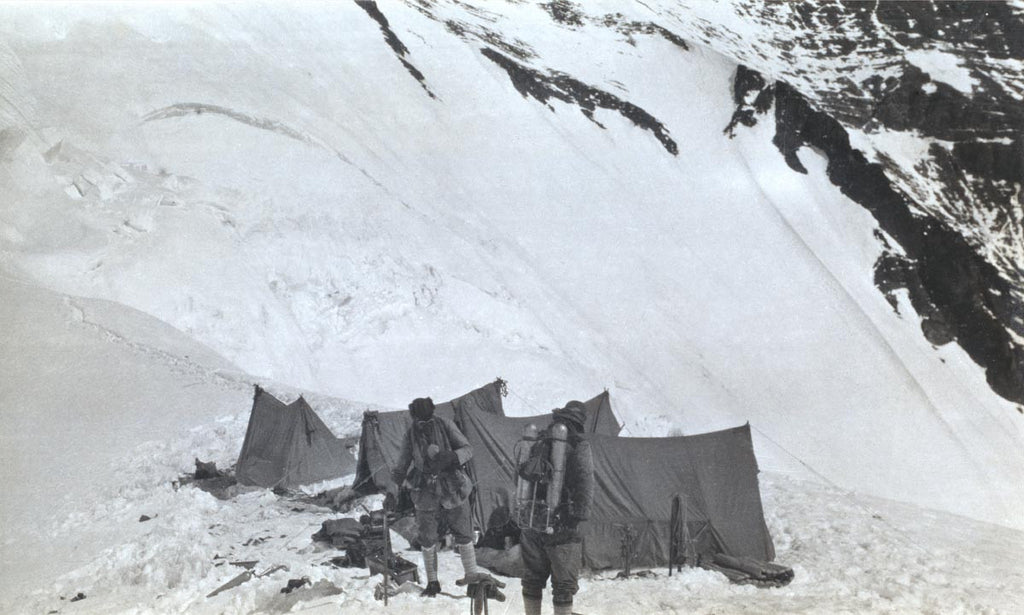 George Mallory and Andrew Irvine leaving the North Col for the last climb
