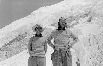 Hillary and Tenzing at Camp IV the day after their ascent