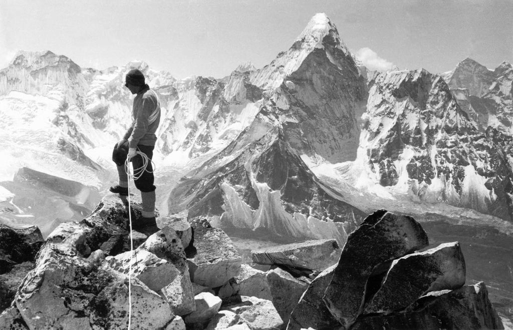 Tenzing Norgay on the summit of Chukhung Peak