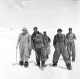 Team members return to Camp IV after the ascent