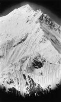 Summit of Mount Everest from north east (telephotograph)
