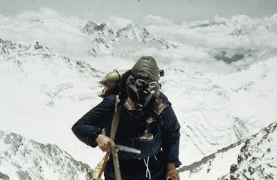 Edmund Hillary on the south east ridge of Everest