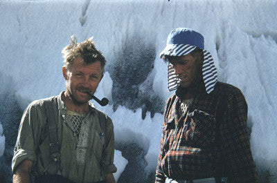 Charles Evans & Edmund Hillary after the successful ascent of Everest
