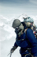 Edmund Hillary approaching 28,000 feet at the site of Camp IX