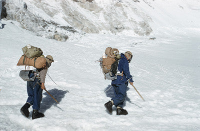 Bourdillon and Evans leave Camp IV for their attempt on Mount Everest