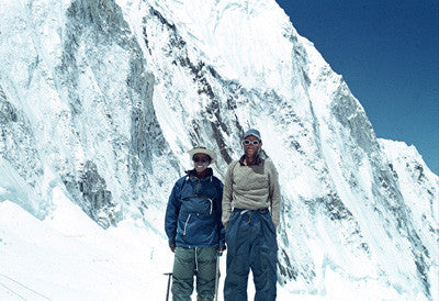 Hillary and Tenzing after successfully climbing Mount Everest