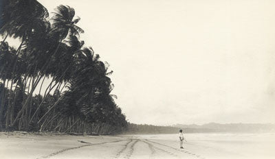 Man standing on a beach, Mayaro Coast - Trinidad