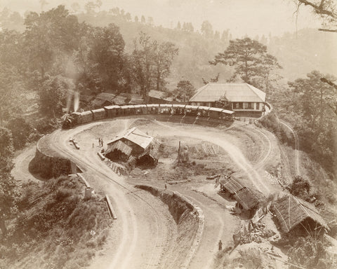 A double loop on Darjeeling hill railway, West Bengal