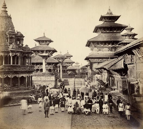 Durbar Square and adjacent temples in Patan