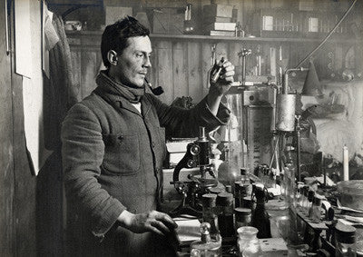 Dr. Atkinson in his lab