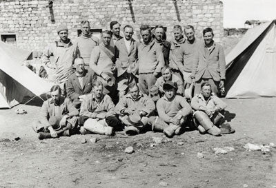 Members of the expedition with Capt. Russell (British Trade Agent) at Phari