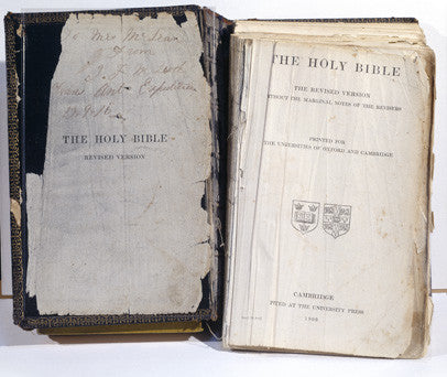 Bible presented by H.M. Queen Alexandra to Sir Ernest Shackleton