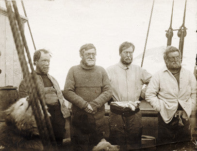 Members of the Southern Party on board SS Nimrod