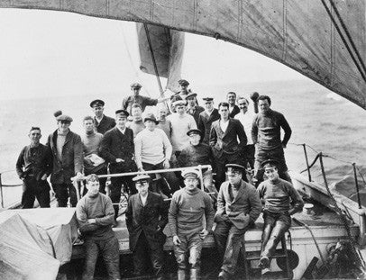 The crew of the Endurance taken on the bow