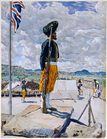 A Sikh Sentry, Fort Johnston