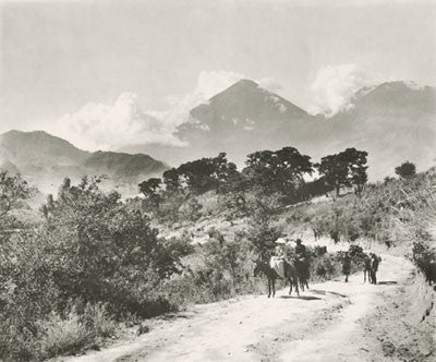 Europeans on horseback in Guatemala