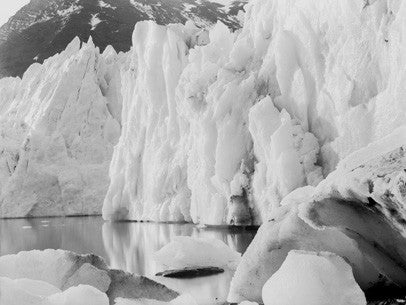 Ice cliffs of Hamberg glacier