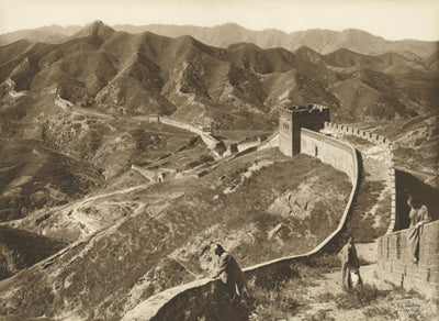 The Great Wall of China at the Nankou Pass, 50 miles from Peking