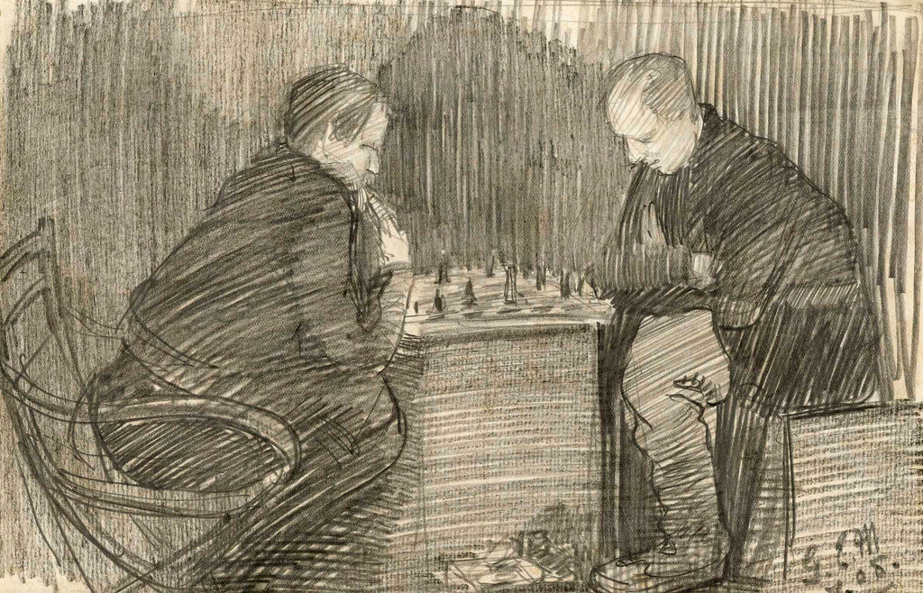 Mackay and Wild playing chess