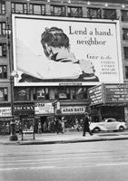 "Times Square billboard ""Lend a Hand Neighbour..."", New York"