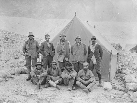 Expedition members in camp