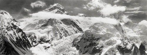Everest, Lhotse and Nuptse, via icefall from Pumori