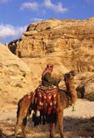 Bedouin with his camel, Petra