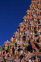 Detail of the Shree Meenakshi Temple, Madurai, Tamil Nadu