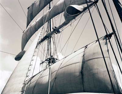 Mainsail of the Moshulu