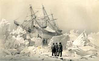 HMS Terror in the ice