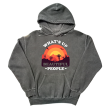 Load image into Gallery viewer, What's Up Beautiful People Charcoal Mineral Wash Hoodie
