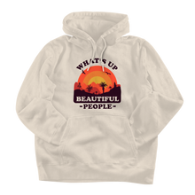 Load image into Gallery viewer, What's Up Beautiful People Cream Hoodie