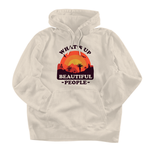What's Up Beautiful People Cream Hoodie