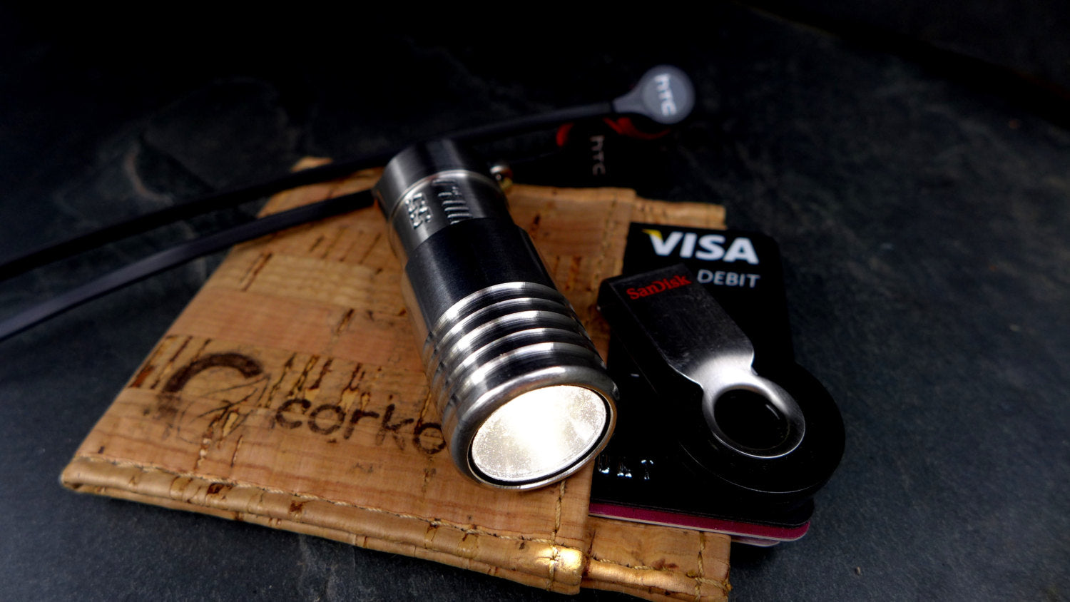 300+ Lumen high power, smallest brightest LED torch Titanium (Ti) Nickel Silver (NS) Stainless Steel (SS)