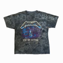 Vintage Metallica t-shirt Ride the Lightning tie and dye - Heavy-Metal-Addict
