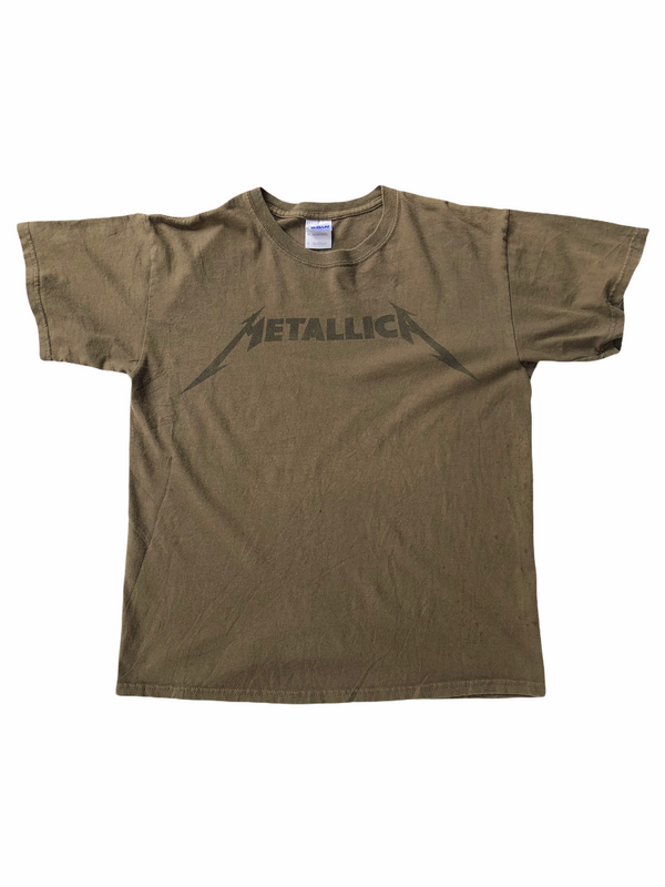 vintage metallica t-shirt death magnetic khaki-Heavy-Metal-Addict