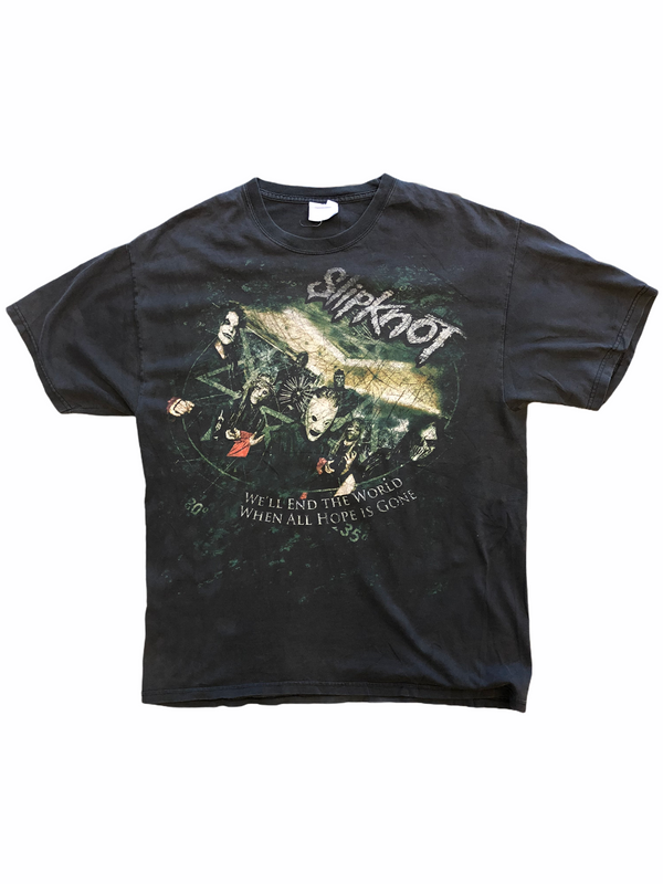 Vintage Skipknot t-shirt all hope is gone - Heavy-Metal-Addict