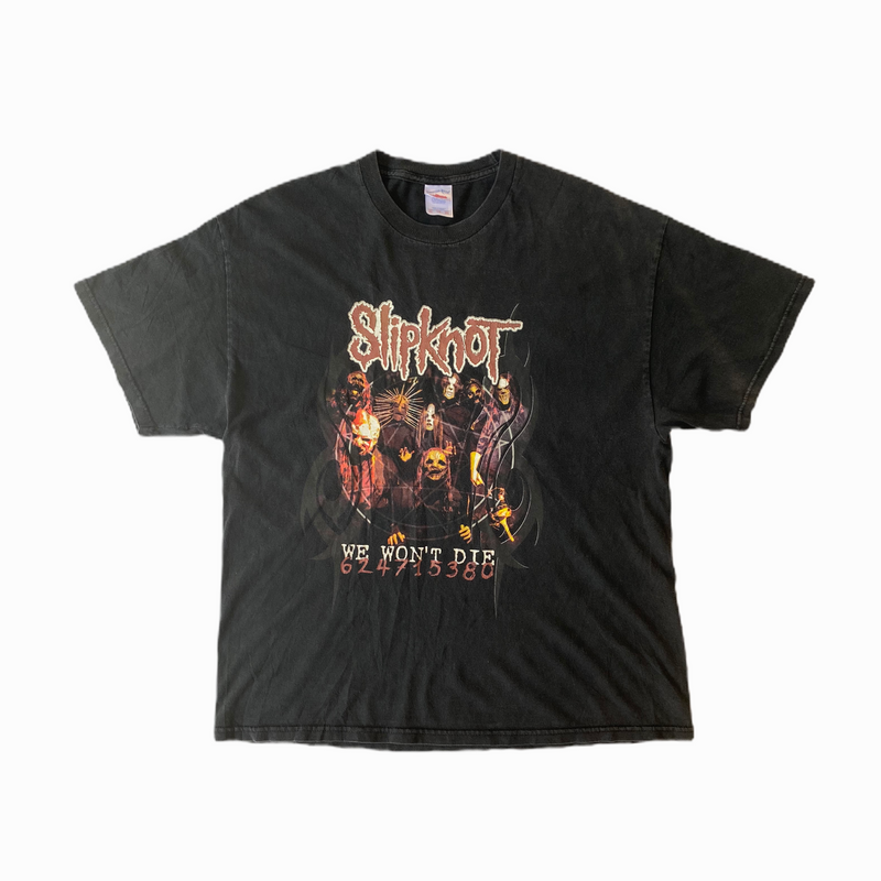 Vintage Slipknot t-shirt we won't die - Heavy-Metal-Addict