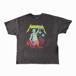 Vintage Metallica t-shirt justice for all - Heavy-Metal-Addict