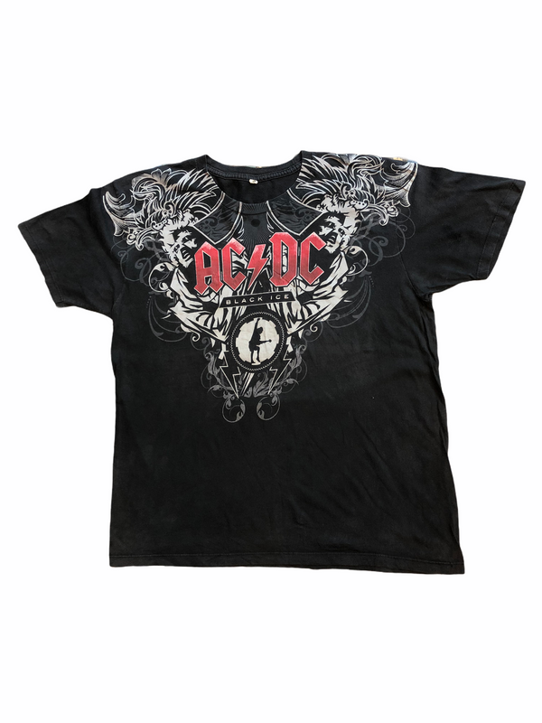 vintage ac/dc t-shirt black ice