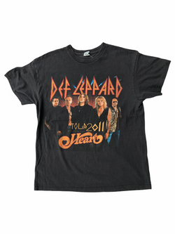 vintage def leppard t-shirt mirror ball tour-Heavy-Metal-Addict