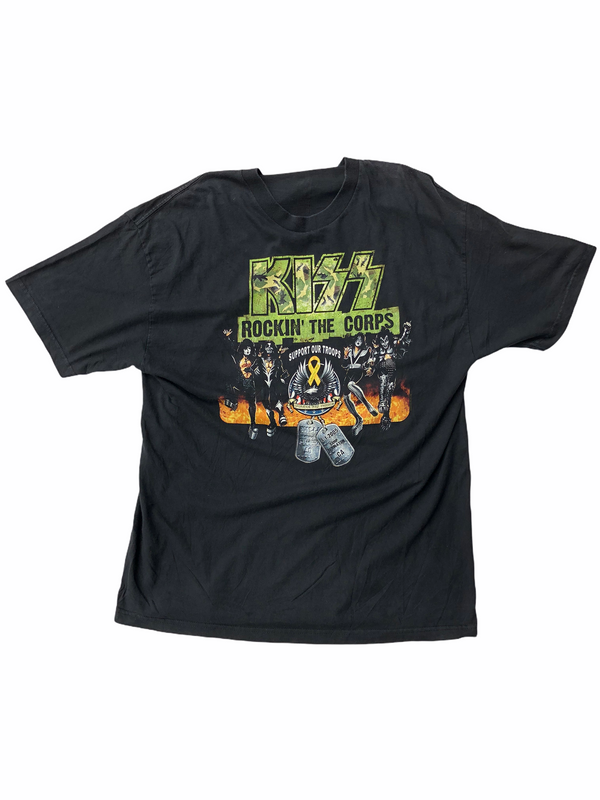 Vintage Kiss t-shirt Rockin' the corps - Heavy-Metal-Addict