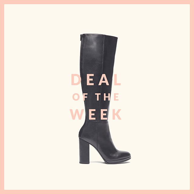 poilei deal of the week leder stiefel ina schwarz
